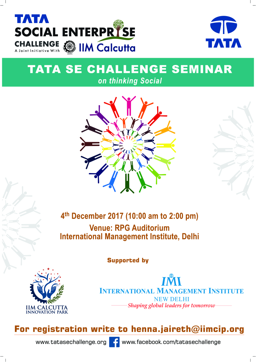 Tata SE Challenge Seminar on Thinking Social – Delhi